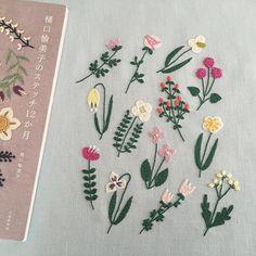 ゆっくり咲かせた樋口愉美子さんの春の花模様 ✳︎ ✳︎ 布の色が違ったのでちょっと色替えしてしまった花模様…
