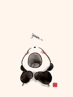 'Bostezo ~' by Panda And Polar Bear Panda Wallpaper Iphone, Cute Panda Wallpaper, Bear Wallpaper, Cute Disney Wallpaper, Cute Wallpaper Backgrounds, Kawaii Wallpaper, Cute Panda Drawing, Cute Panda Cartoon, Cute Cartoon Animals