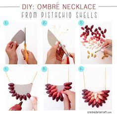 Grosgrain: Pistachio Necklace DIY