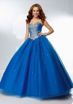 prom dresses prom dresses for teens prom dresses 2015 long strapless ball gown tulle beaded and diamonds floor-length prom dress