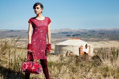 """Robe Canatay, sac Moly, bijoux, La Fiancée du Mekong, collection AH15 """"In Mongolie for Love""""."""
