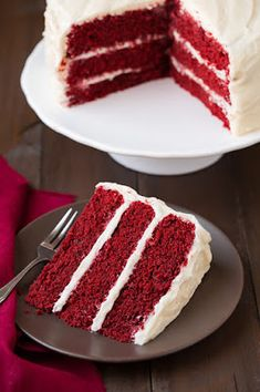 Red Velvet Cake with Cream Cheese Frosting Cooking Classy, Red Velvet Cake with White Chocolate Cream Cheese Frosting, Red Velvet Layer Cak. Food Cakes, Cupcake Cakes, Cake Icing, Best Cake Recipes, Dessert Recipes, Icing Recipes, Just Desserts, Delicious Desserts, Creative Desserts