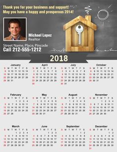 A perfect choice to promote your house construction business ! #realestate #calendar2018 #custommagnets #freeshipping