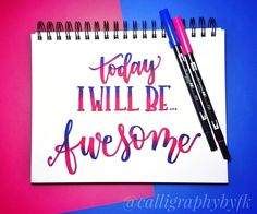 January Lettering, Challenges, Motivation, Day, Awesome, Instagram Posts, Daily Motivation, Determination