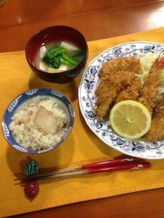 海の幸満載の夕食 - 5件のもぐもぐ - 鮑ご飯 牡蠣フライ 海老フライ! by MOONingMOON
