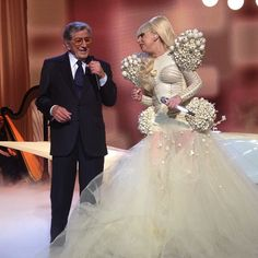 """Lady Gaga wore a literal """"ball gown"""" to the Inaugural Ball."""