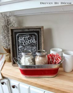 A cute little hot chocolate station for the kiddos around the holidays