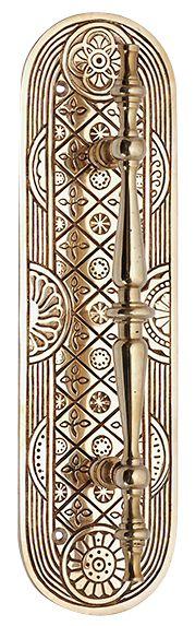 Art Deco Style Door Pull & Plate (Polished Brass Finish) Polished Brass, Solid Brass, Art Gallery Wedding, Door Pulls, Door Handles, Cow Skin, Art Deco Home, Plate Art, Art Deco Design