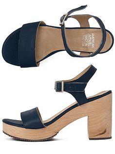 Wooden Heel Sandal $96