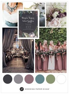plum and sage fall nude wedding colors for october brides Weddings