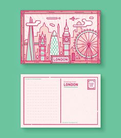 I created these postcards featuring five amazing cities of the world I've…