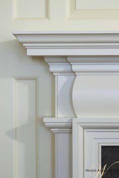 With such high involvement in this homes creation we were able to oversee every last element of the detailing, which made each room all the more special. Fireplace Mantle, Fireplace Surrounds, Fireplace Design, Moldings And Trim, Moulding, Architecture Details, Interior Architecture, Door Design, House Design