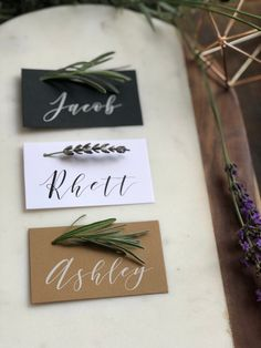 Printed Calligraphy Appointment Cards, Modern, Minimalist, Elegant Wedding Square Cards of dream # wedding planners Wedding Name, Wedding Places, Wedding Cards, Wedding Stuff, Name Place Cards Wedding, Wedding Seating Cards, Wedding Place Settings, Wedding Vows, Wedding Programs