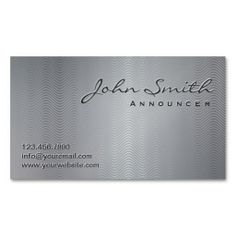 Metallic Wave Patterns Announcer Business Card