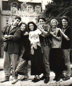 """Friends"" in 1994. Ugh. How great would it be to have a signed copy of this?"