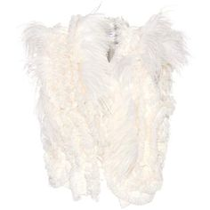 Lanvin Feather-embellished jacket (£3,320) ❤ liked on Polyvore featuring outerwear, jackets, white jacket, white feather jacket, embellished jacket, lanvin jacket and feather jacket