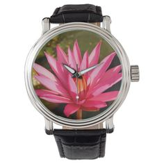 Lotus Flower in the Nature Wristwatch Yoga Gifts, Lotus Flower, Watches, Nature, Accessories, Naturaleza, Wristwatches, Clocks, Nature Illustration