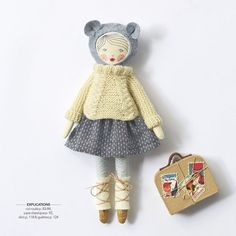 Soeur Alma Fanteria is the French nun who authored the book, Poupees A Coudre, which I highly recommend. The book is based on the pattern. Doll Clothes Patterns, Doll Patterns, Plush Dolls, Doll Toys, Sewing Projects For Kids, Doll Maker, Waldorf Dolls, Soft Dolls, Fabric Dolls