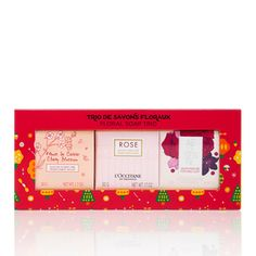 Fragrant with the modern scents of rose, arlesienne, and cherry blossom, this floral soap trio gently cleanses while leaving skin delicately scented. Best Gifts For Men, All Gifts, Home Gifts, Gifts For Women, Blossom Perfume, Rose Perfume, Beauty Products Gifts, Soap Net, Skin Cleanse