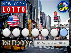 New York Lotto Results of Day Saturday 06 December 2014, Ny Lottery - Ny Lotto - New York Lottery Credits: http://powerball.center