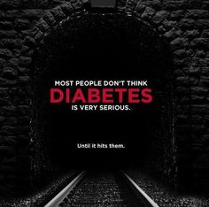 And it can hit anyone...diabetes does not discriminate.