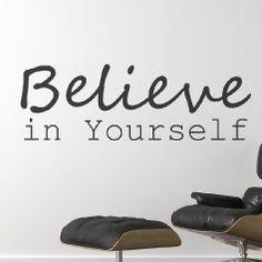 Sticker Believe in yourself