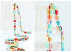 DIY: guirnaldas de papel para decoración infantil
