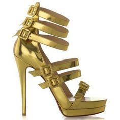 Christian Louboutin 123 Double Platform Sandal Gold