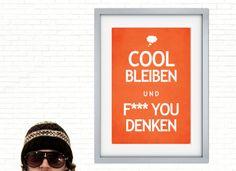 Originaldruck - 彡Cool Print | f*** you denken - ein Designerstück von claus-peter-2 bei DaWanda