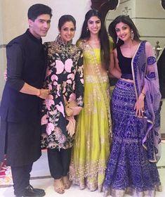 Manish Malhotra, Sridevi and Khushi Kapoor attended Shilpa Shetty's Diwali party