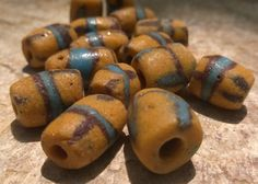 African Sandcast BeadsOld African Powder Glass by RedEarthBeads