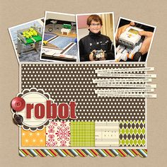 Celeste Smith for Jillibean Soup good general scrapbook layout useful for scraps that you love