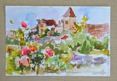 Dreamas Daily Paintings and Writings: Postcards from France- No.6 and No.7