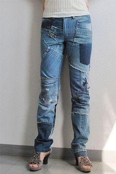 upcycled+clothing | yoshimi the flying squirrel: jean upcycled