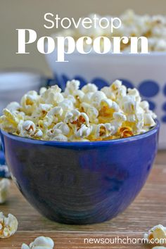 Stovetop Popcorn is the perfect snack for your next movie night Netflix binge game night party or munching while you watch the big game. Top Recipes, Lunch Recipes, Dinner Recipes, Amazing Recipes, Delicious Recipes, Holiday Recipes, Easy Recipes, Easy Family Meals, Quick Meals