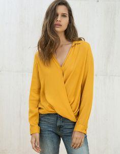 Πουκαμίσα κρουαζέ || Zara shop