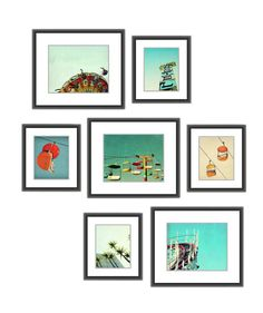 "The perfect solution to that sad, blank wall in your office? A stylish gallery wall. This collection of beach art prints will add a nostalgic, relaxed vibe to any corporate, stuffy office. This set comes with seven prints, with measurements that vary from 5"" x 7"" to 8"" x 10""."