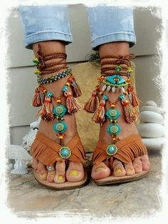 Bohemian Barefoot Sandals – Just Trendy Girls - The latest in Bohemian Fashion! These literally go viral Bohemian Sandals, Boho Shoes, Fashion Mode, Boho Fashion, Fashion Shoes, Masai Mode, Cute Shoes, Me Too Shoes, Botas Boho