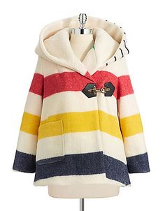 In collaboration with Smythe, the Hudson's Bay Company Collection brings you this classic swing coat with clasp closure