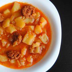 Patatas a la riojana con chorizo-
