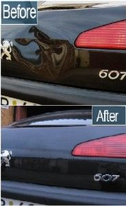 Removing dents from cars