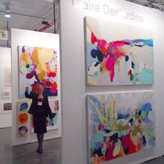 Last weekend, at The #Artist Project, in #Toronto. This photo taken after the last #painting was hung in my booth! So much work, and so worth it. I'll see you there, again, in 2016!!