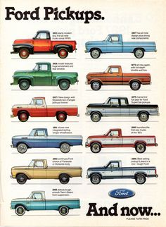 70 Jahre Ford Pickups - My list of the best classic cars Chevy Trucks, Ford Pickup Trucks, New Trucks, Car Ford, Cool Trucks, Ford Obs, Lifted Trucks, Auto Ford, Jeep Pickup