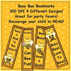 BUSY BEE Bumble Bee Bookmarks Set 3 Party Favor by CraftFairy7