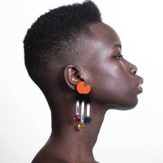 Crystal Rain Earrings RedBlack Afro, Natural Hair Styles, Short Hair Styles, New Hair Growth, Grow Long Hair, Black Women Hairstyles, Funky Hairstyles, Medium Hairstyles, Formal Hairstyles