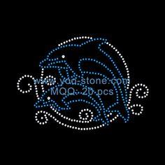 "Iron-On Rhinestone Design  6/""  Sea Turtle  DIY Transfer Motif  Any Color"