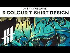 Adobe Illustrator & Photoshop Time Lapse - Secondhand Habit 3 Colour T-shirt Design by Katie Hodgson - YouTube