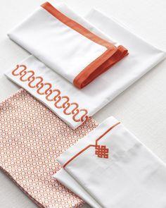 Pick your color   Bedding classics in Papaya via Serena & Lily