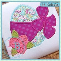 See It All :: Egg Roses Applique