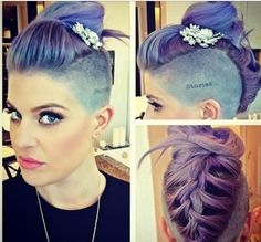 Hair: Braided #updo #Shaved